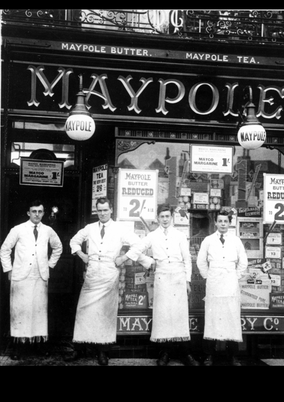 Maypole Grocery Co, Market Place between 1920 and 1923