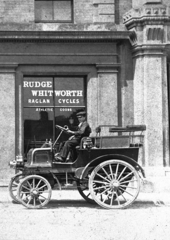 A Daimler outside the Corn Exchange, perhaps on its way to take part in the procession celebrating the coronation of King Edward VII in August.