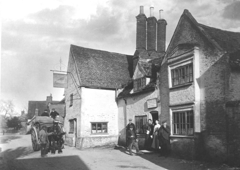 The Bird in Hand pub, Gosmore, 1898