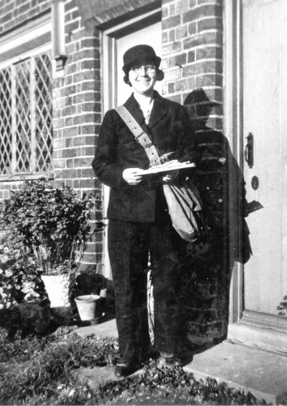 Katherine Francis, seen here, was the postal delivery woman in Hexton during the Second World War. The village Post Office opened in 1922 and was run by Harry Oliver and his wife. They had a telephone installed, at a cost of £40.
