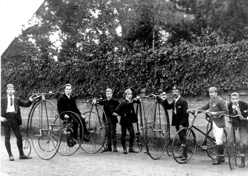A teetotal cycling club, about 1890