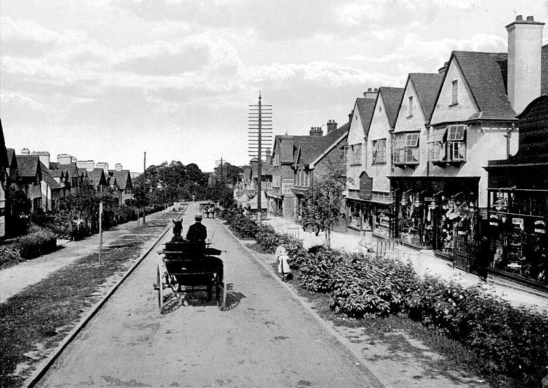 Station Road, Letchworth Garden City, about 1910