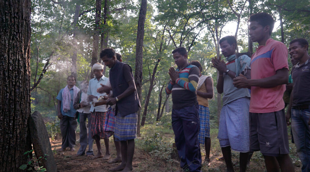 Tribal people worshiping trees in Bastar, Chattisgarh
