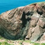 Folded rocks near St. Ann's Head