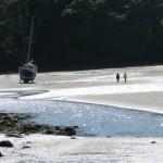 Low tide walking up Sandy Haven creek