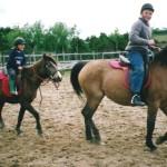 Matt and Alice riding at Maenclochog