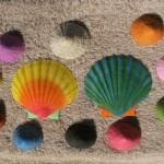 Paint seashells
