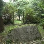 Sacrificial stone at end of manhir terrace