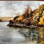 Sandy Haven water colour by Grace Scurlock