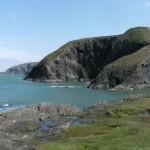 Sea cliffs at Ciebwr Bay