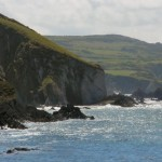 Sea cliffs Pwllgwaelod Sands, Dinas