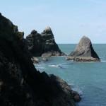 Sea stacks at Ciebwr Bay