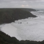 West Dale Bay in a winters storm 2
