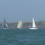 A yacht race off Sandy Haven.