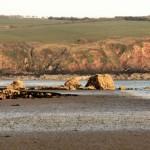 Warning rock Sandy Haven beac