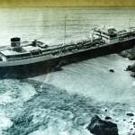 Donna Marika ashore in Lindsway Bay