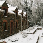 Monks garden in December snow
