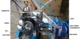 Automotive Single Cylinder 2 Stroke Petrol Engine Model AM 219
