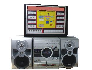 Hi-Fi MINI COMPONENT SYSTEM Trainer Model ETR 023