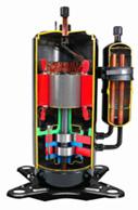 Rotary Compressor Cutaway Model RAC 092
