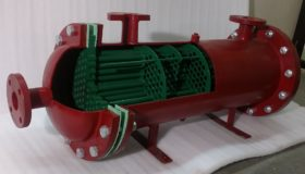 Shell & Tube Industrial Grade Heat Exchanger Cutaway Model THC 008