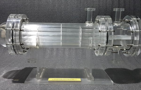 Multi-Pass Floating Heat Exchanger Cutaway Model THC 003
