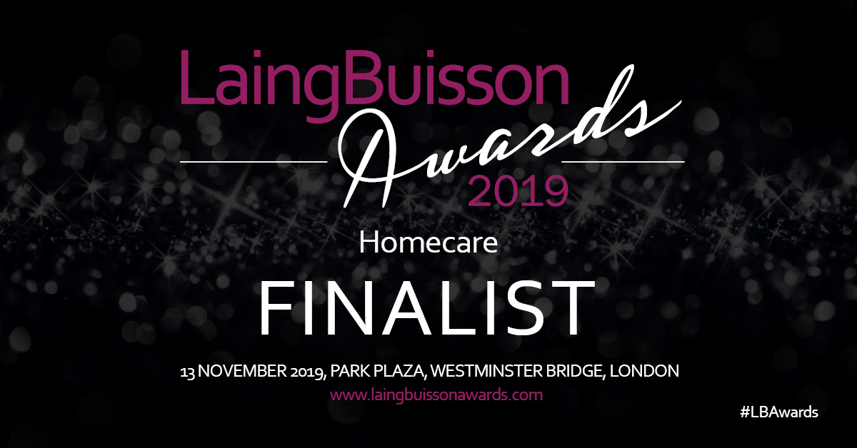 Berkeley Home Health are 'Homecare' finalists in the LaingBuisson awards