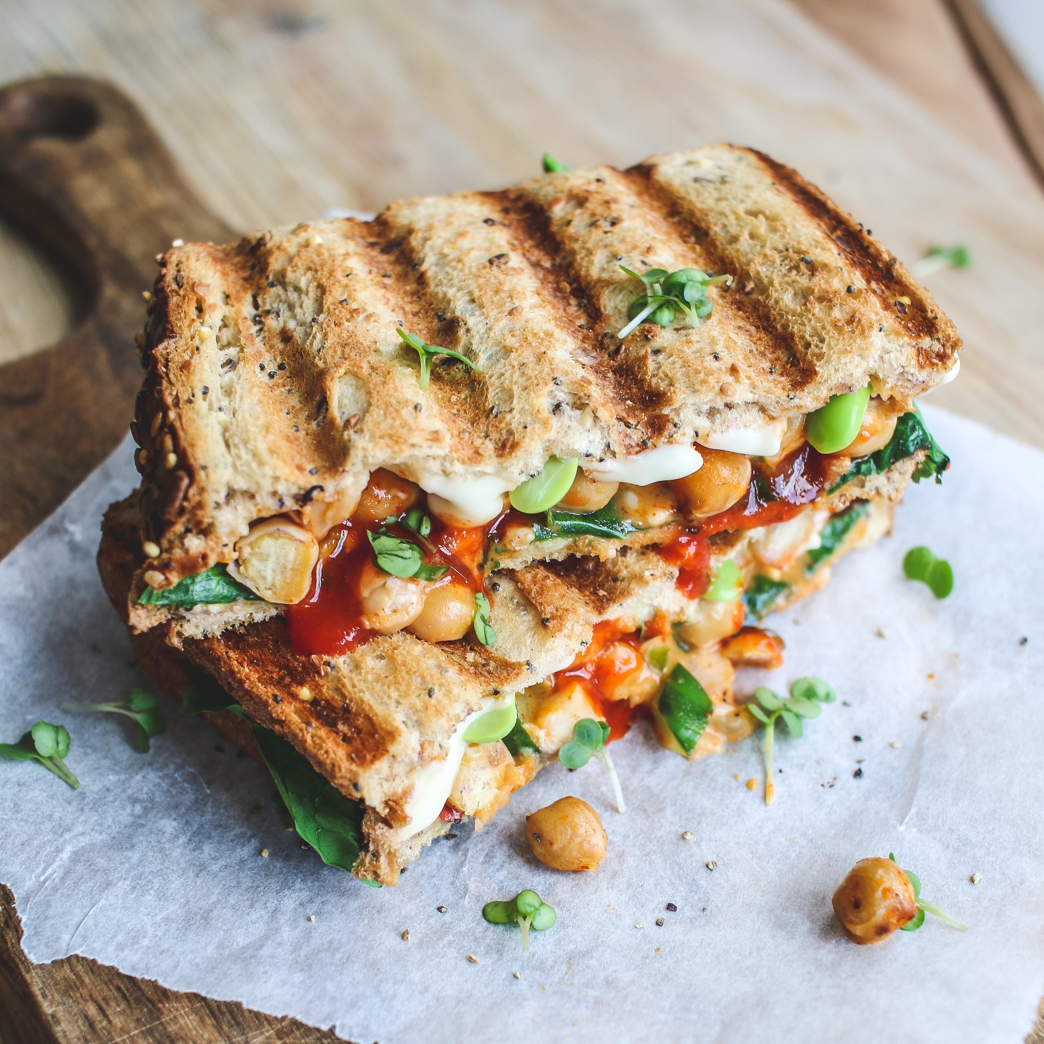vegan chickpea toastie recipe vegan