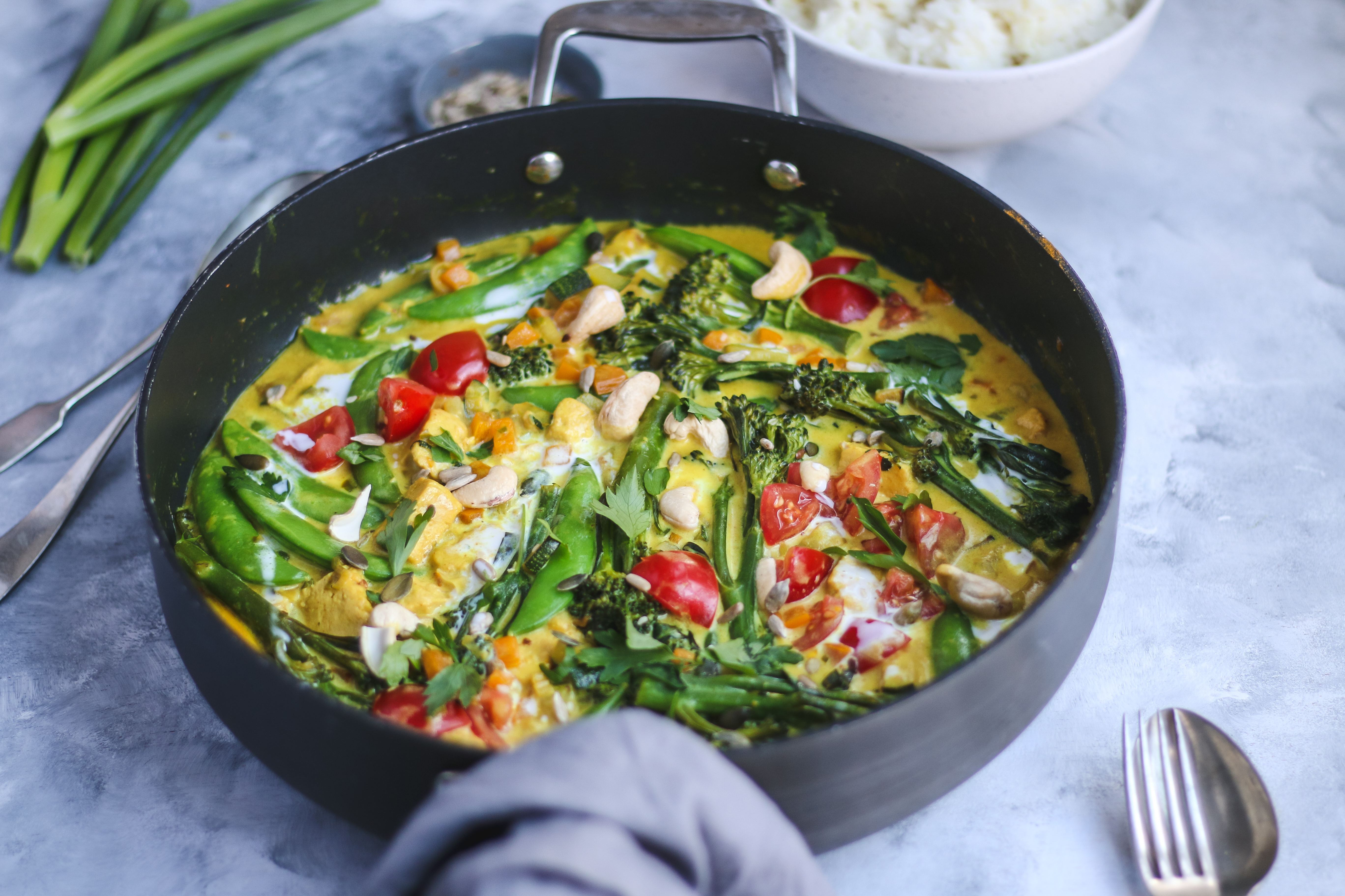 lemongrass and ginger curry vegan recipe
