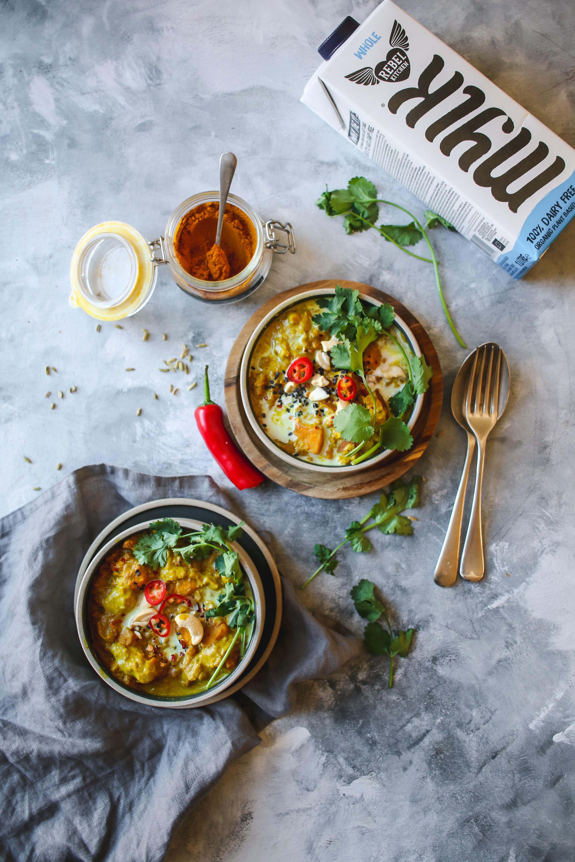 Vegan peanut and sweet potato dal recipe