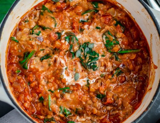 Chilli and lentil hot pot vegan