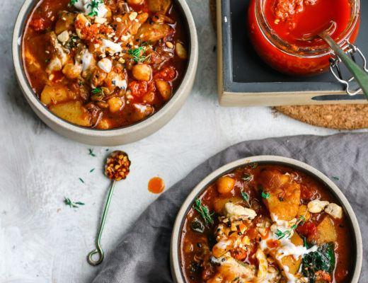 Chickpea and potato stew vegan