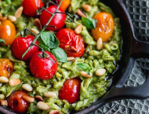 spinach pesto pasta vegan