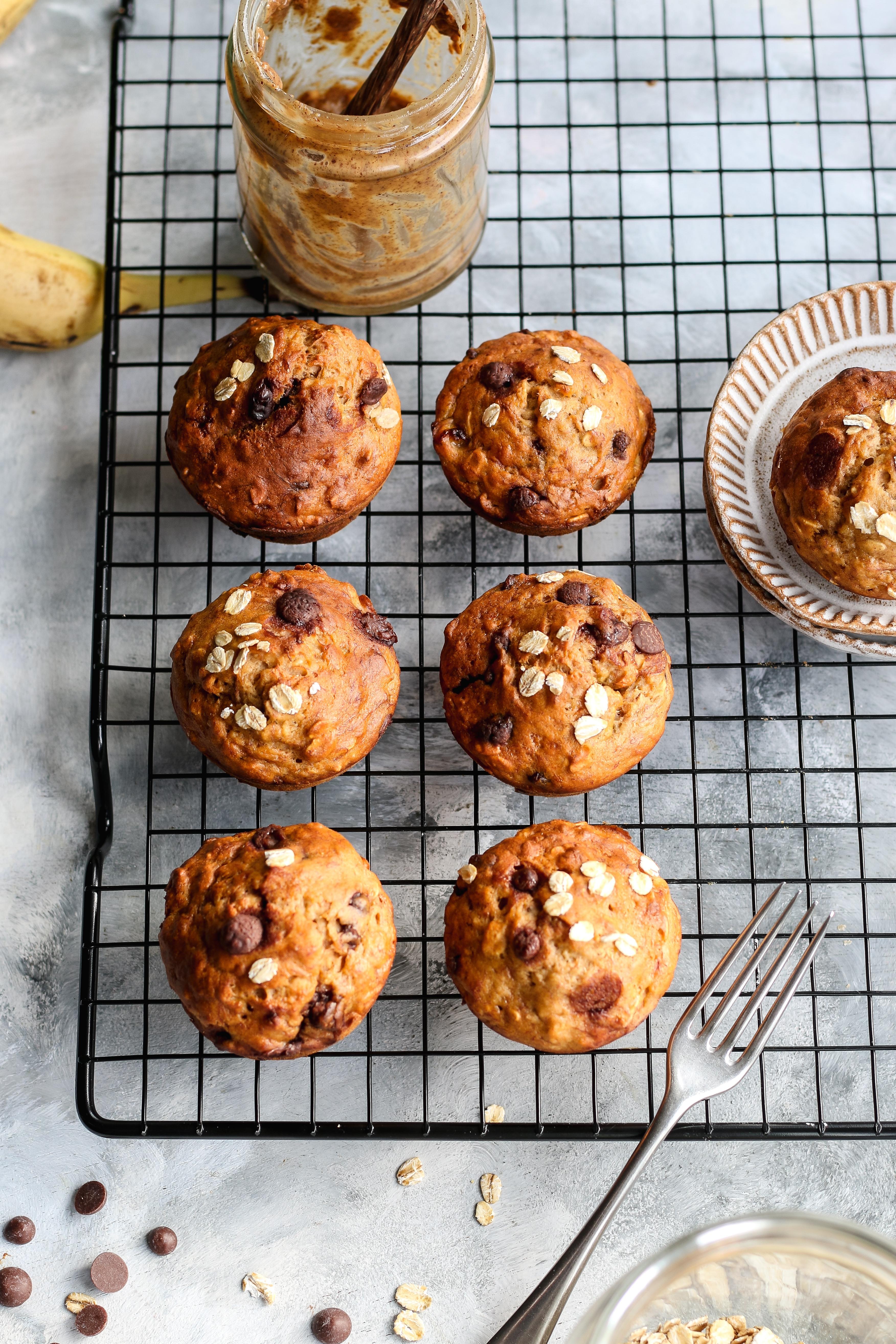 banana chocolate chip breakfast muffins