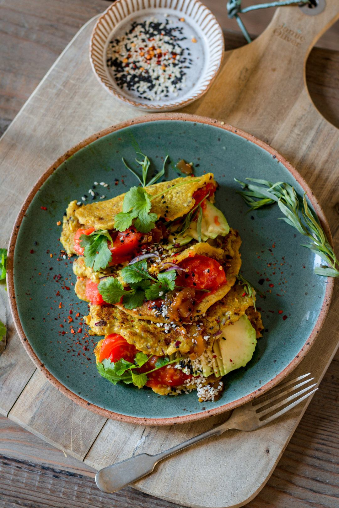 vegan savoury crepes