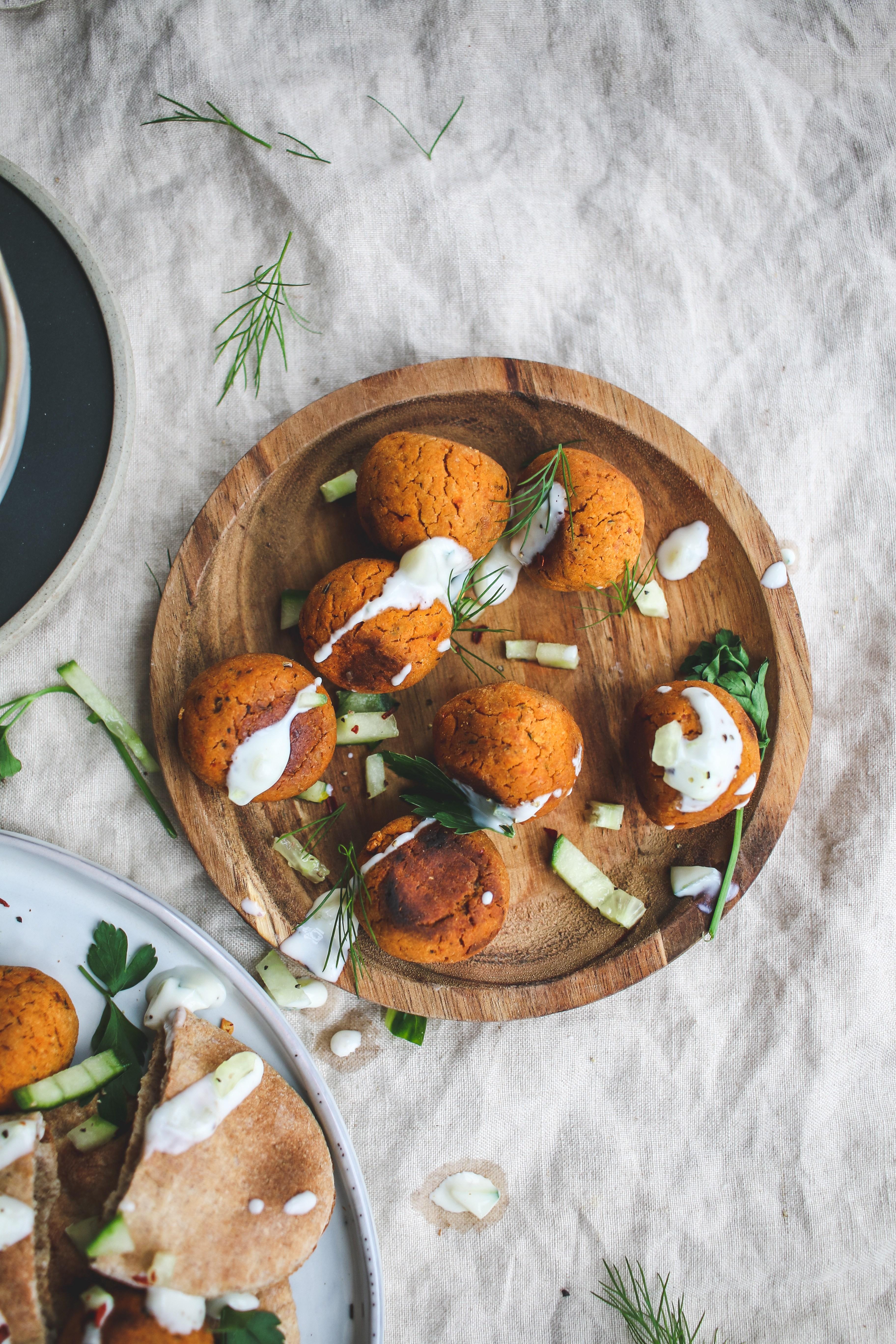 baked vegan falafel