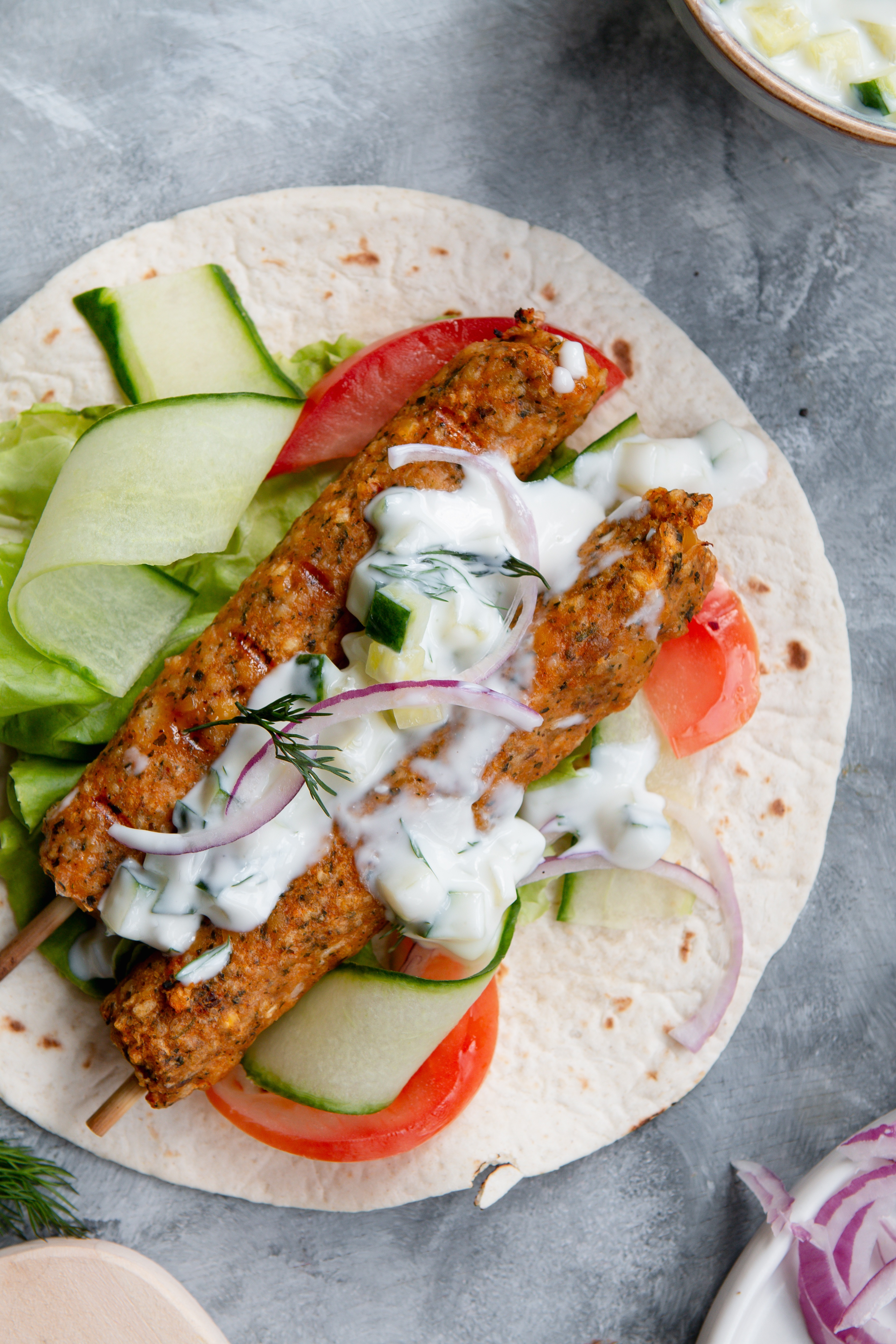 vegan moroccan kebabs