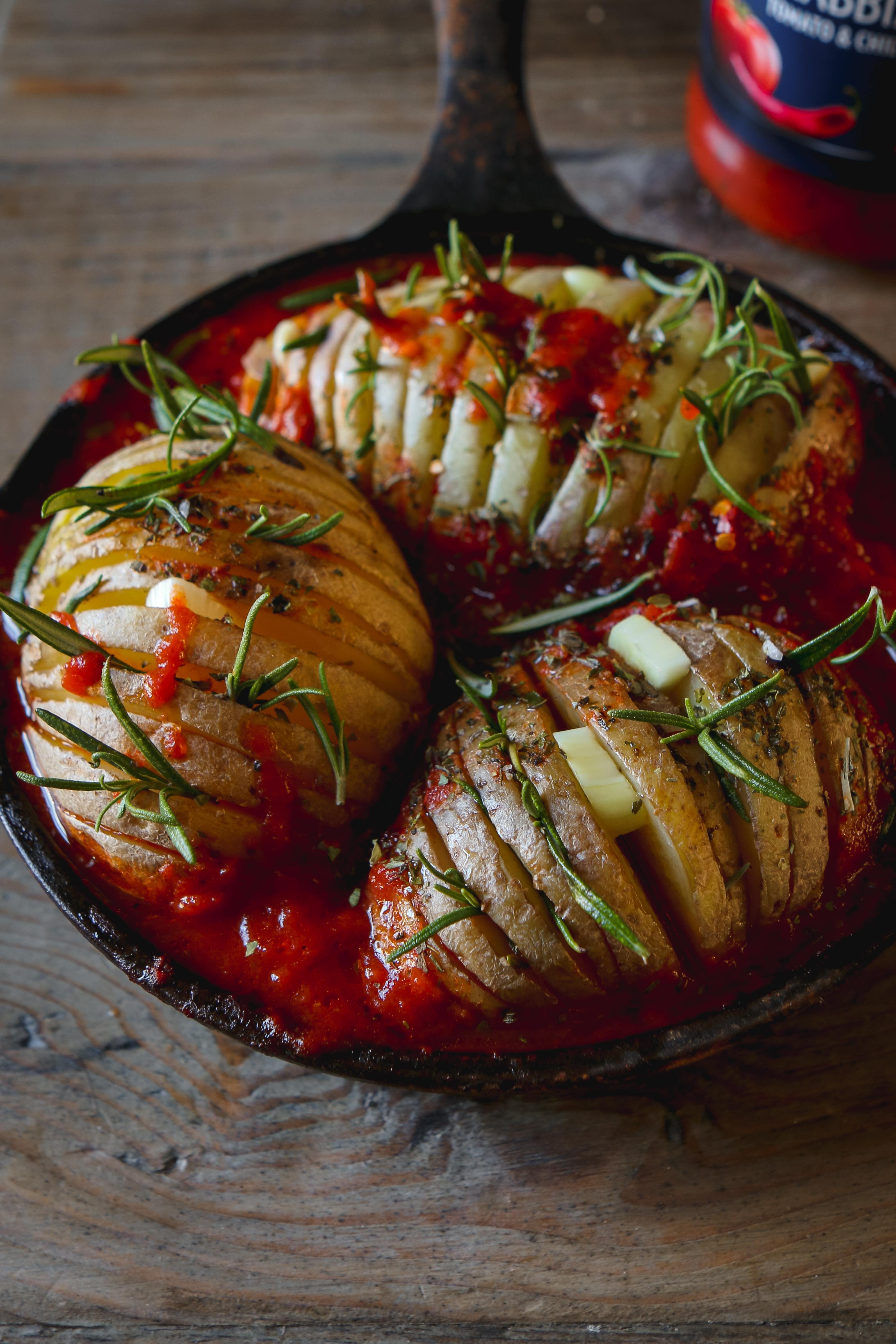 hasselback potatoes vegan recipe