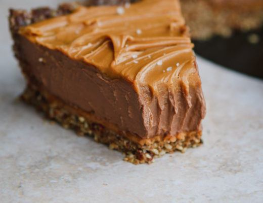 vegan peanut butter chocolate tart