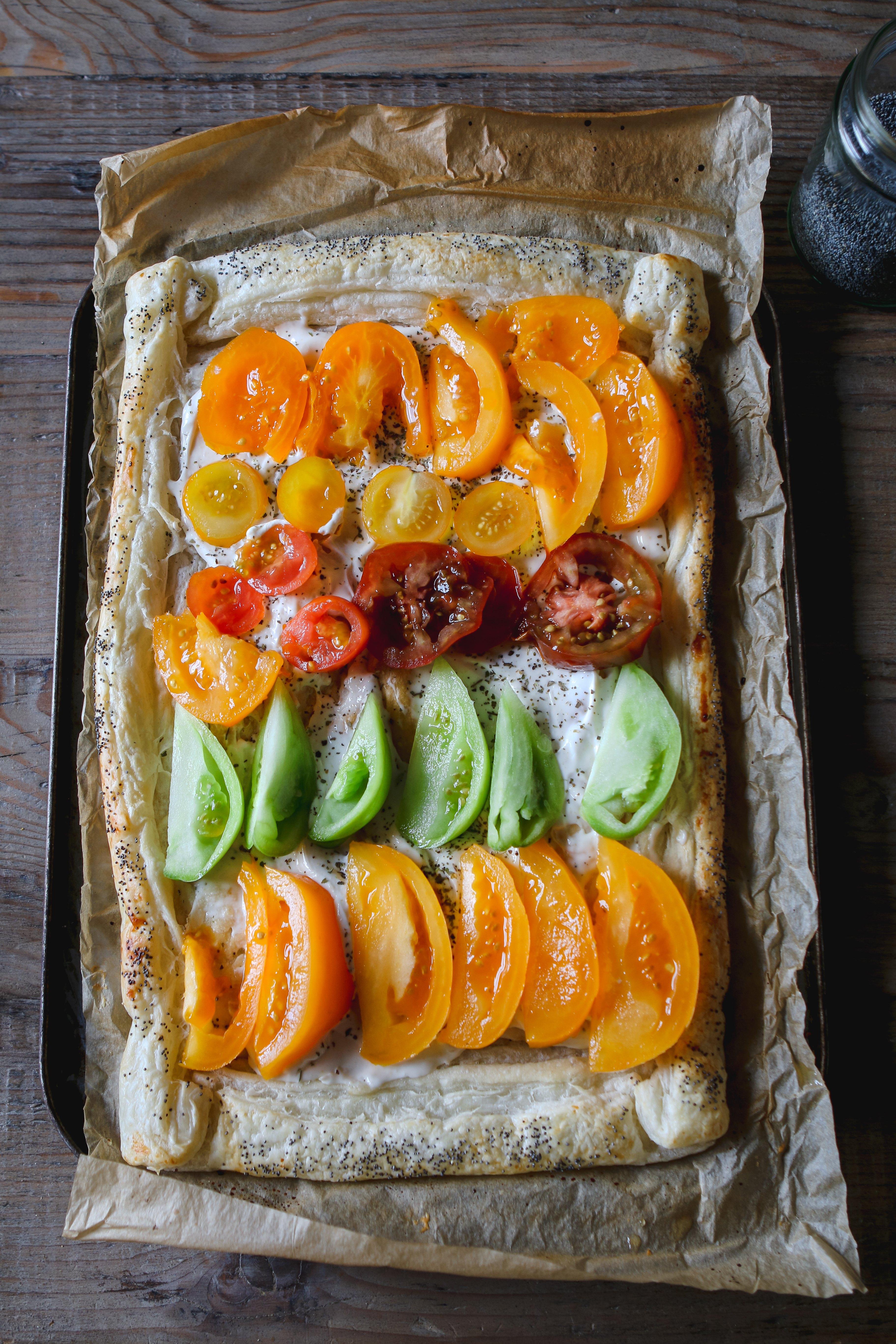 heirloom tomato tart vegan