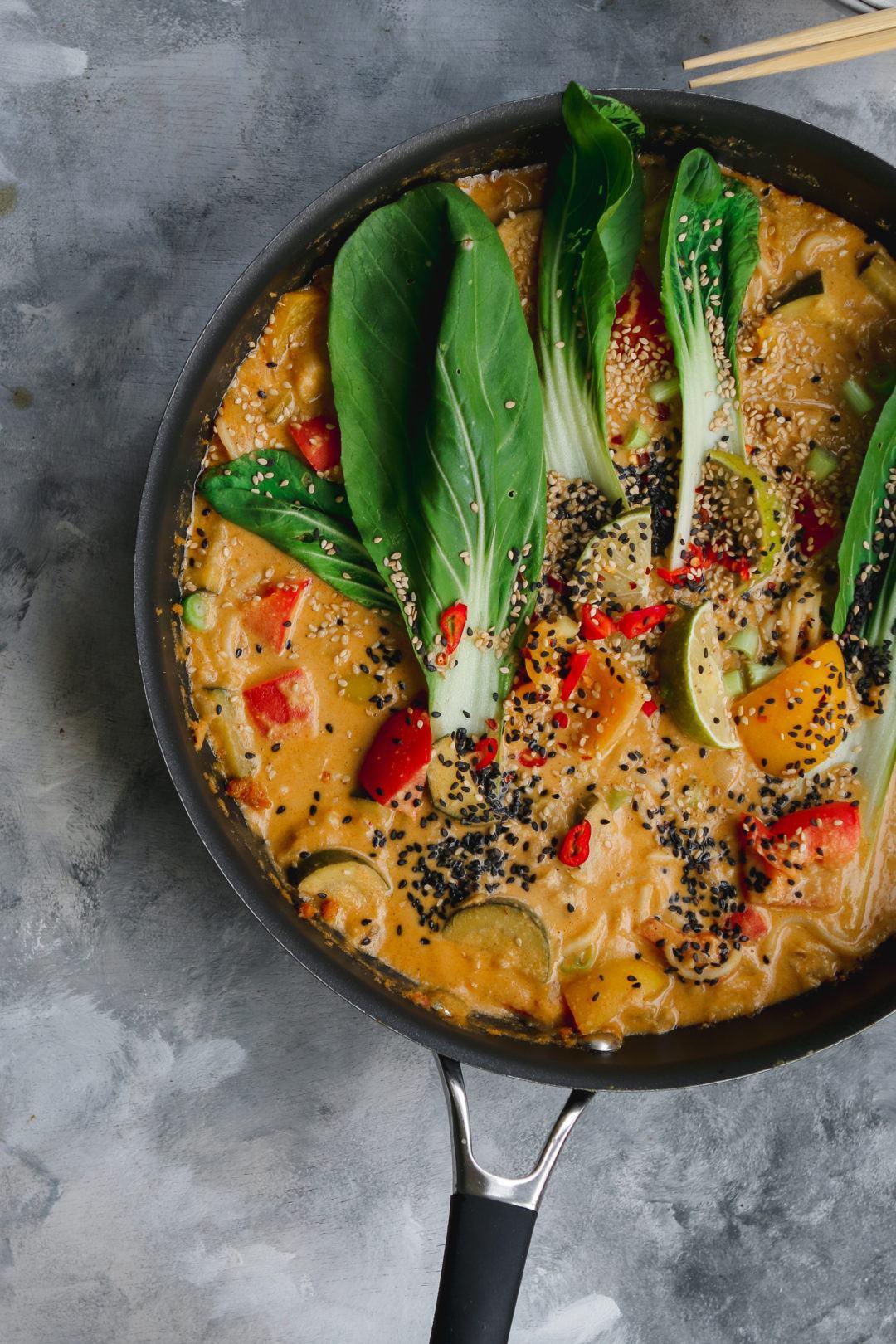 Lemongrass vegan noodle curry