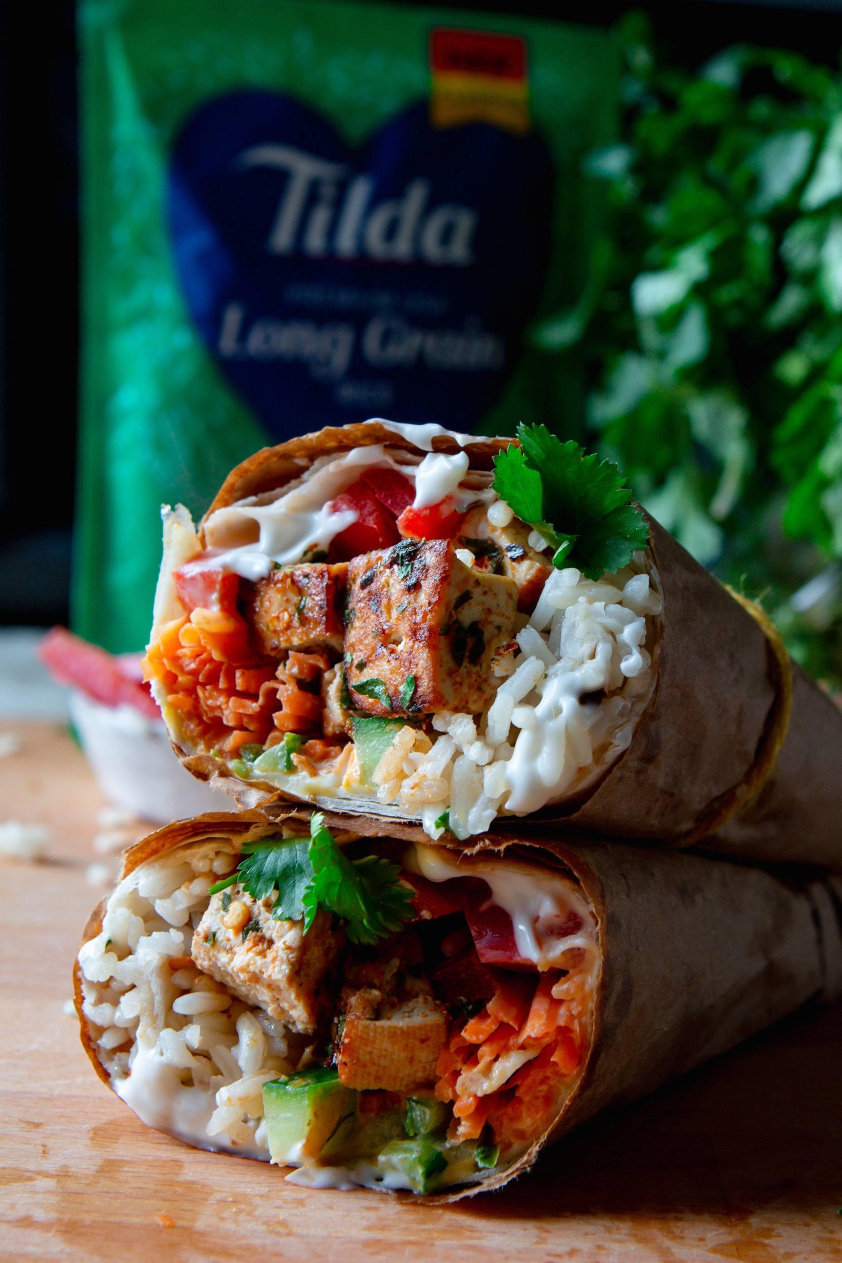 Tilda Crispy tofu burrito vegan