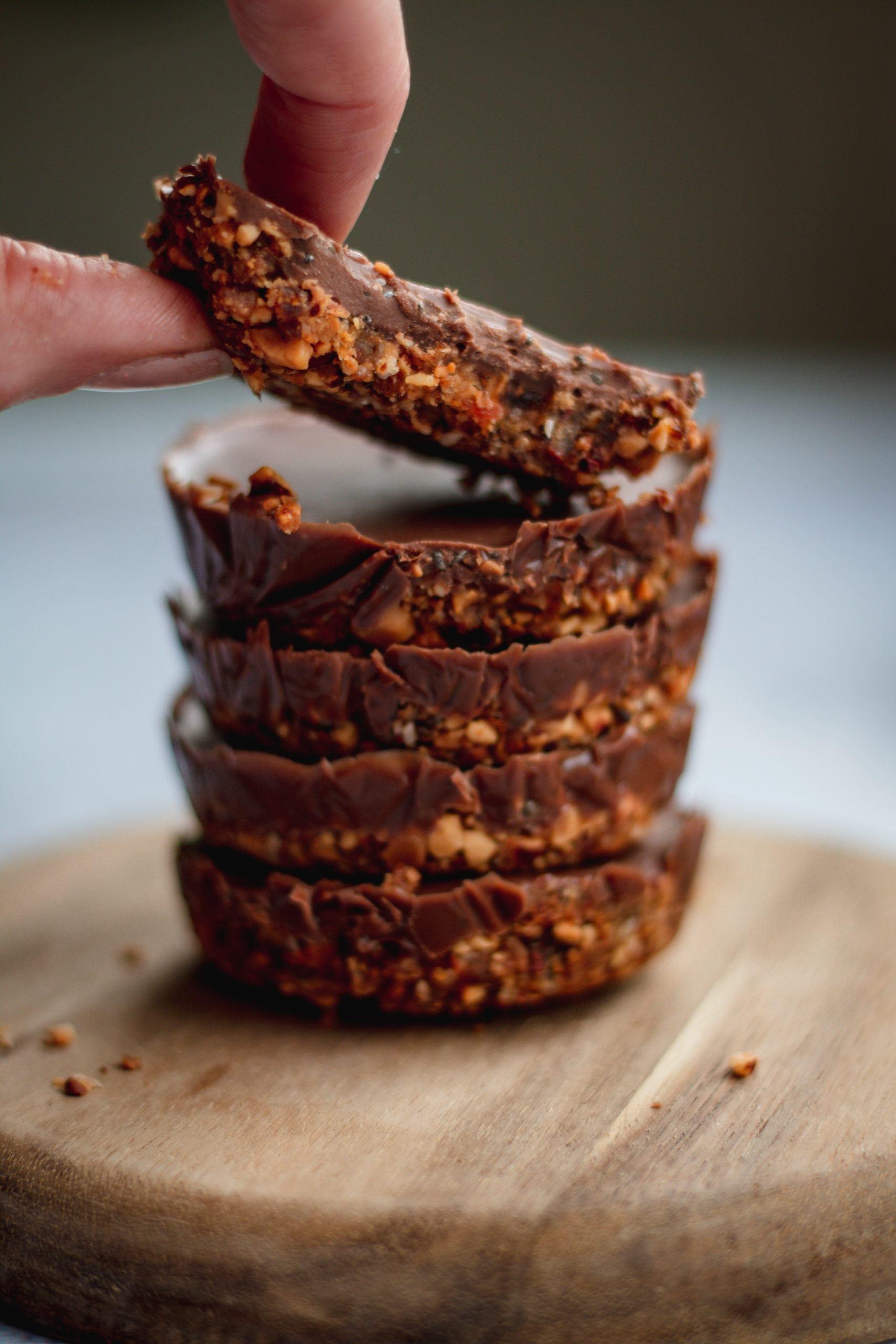 Bite Size Chocolate Tarts Vegan