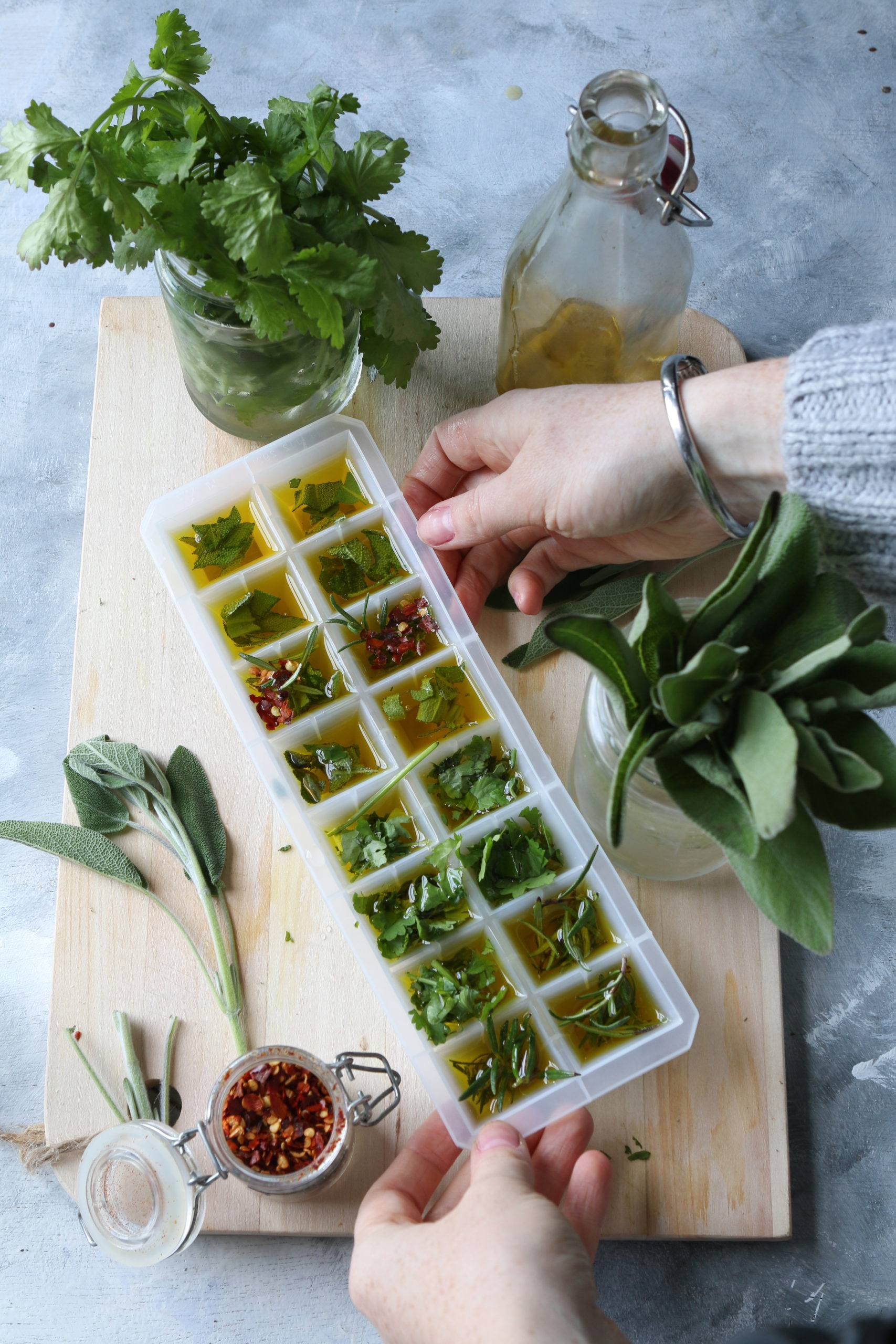 freezing herbs to preserve them