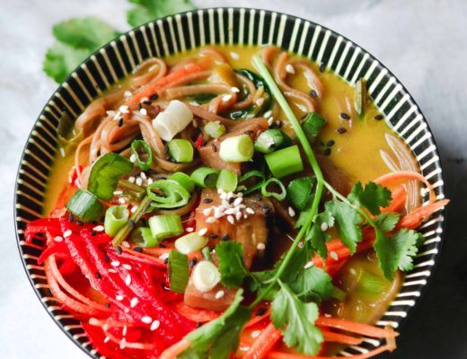 ginger miso soba curry