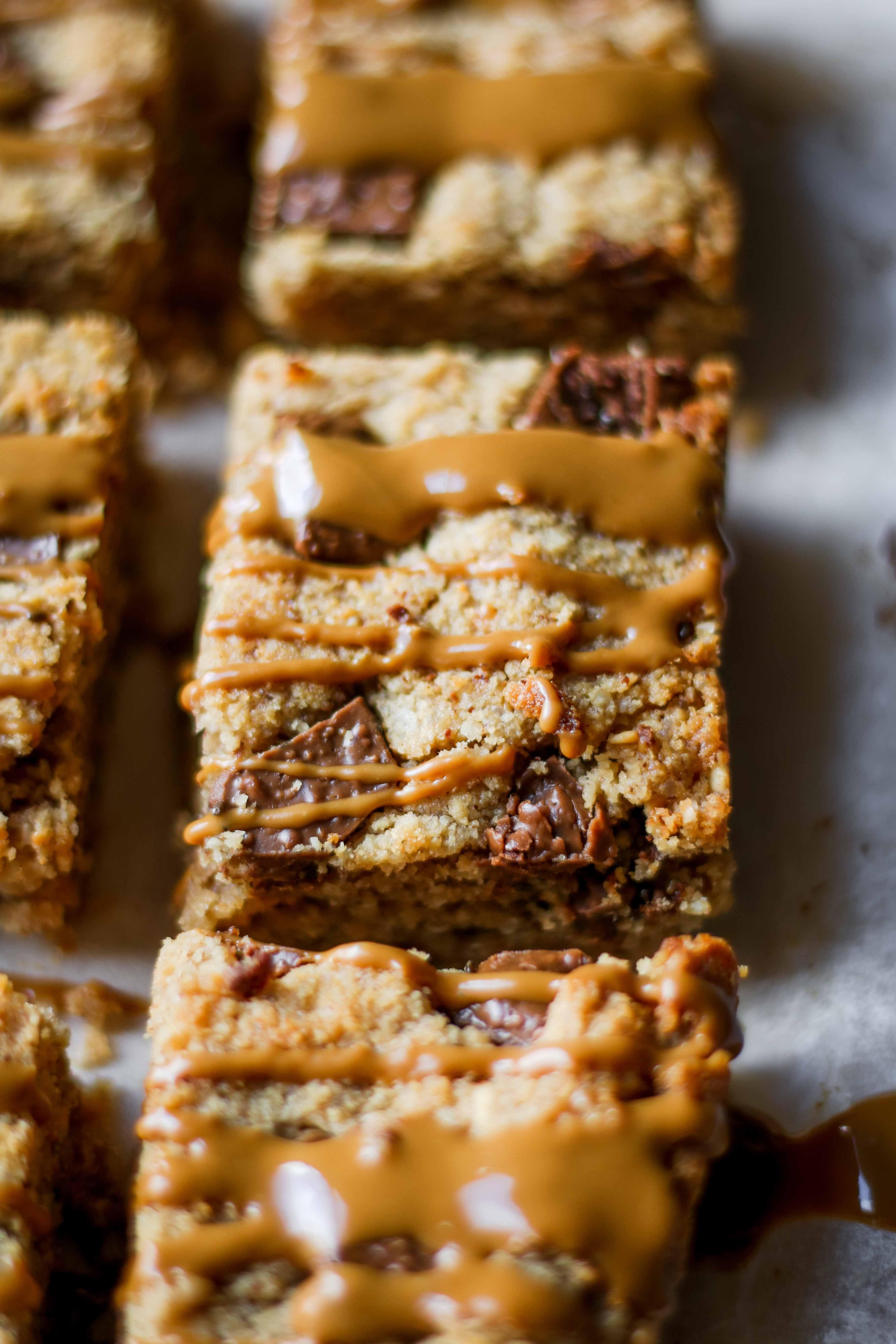 peanut butter blondies vegan recipe