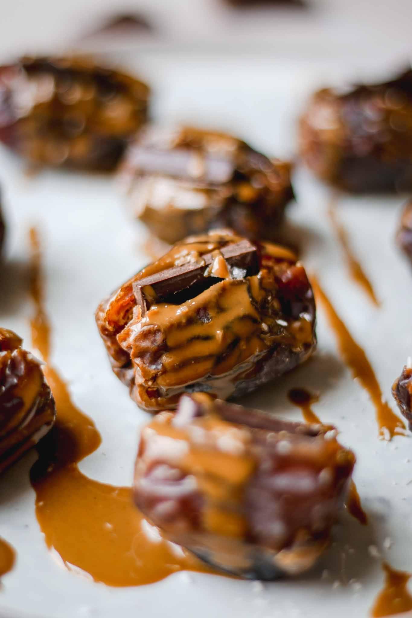 Tahini & Chocolate Stuffed Dates