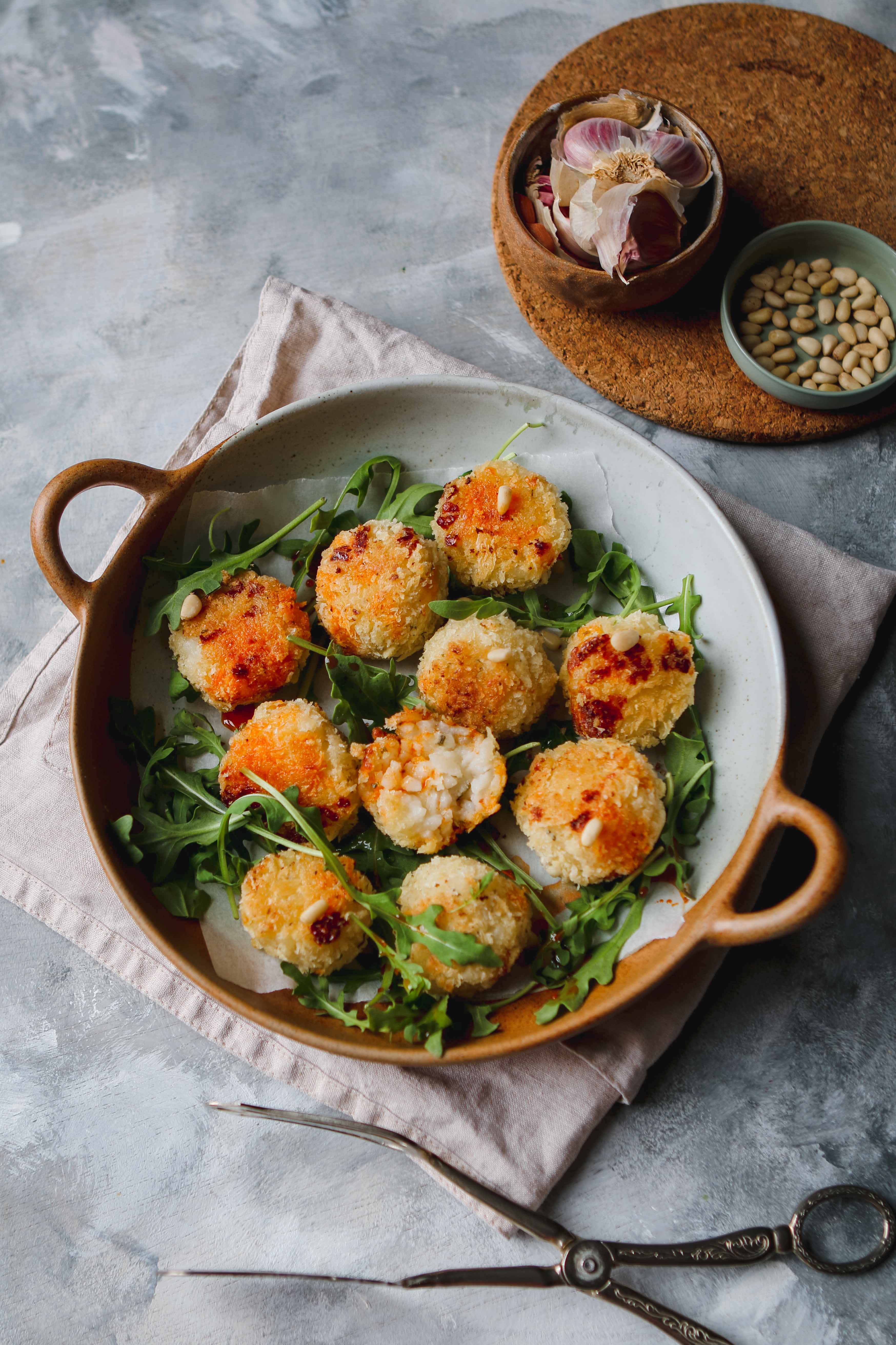 lemon and pea arancini easy recipe
