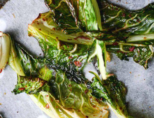 crispy cauliflower leaves reduce food waste