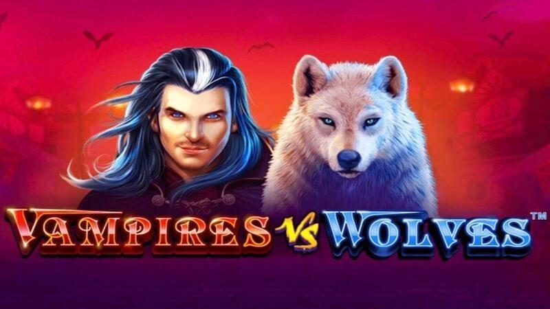 vampires vs wolves slot logo